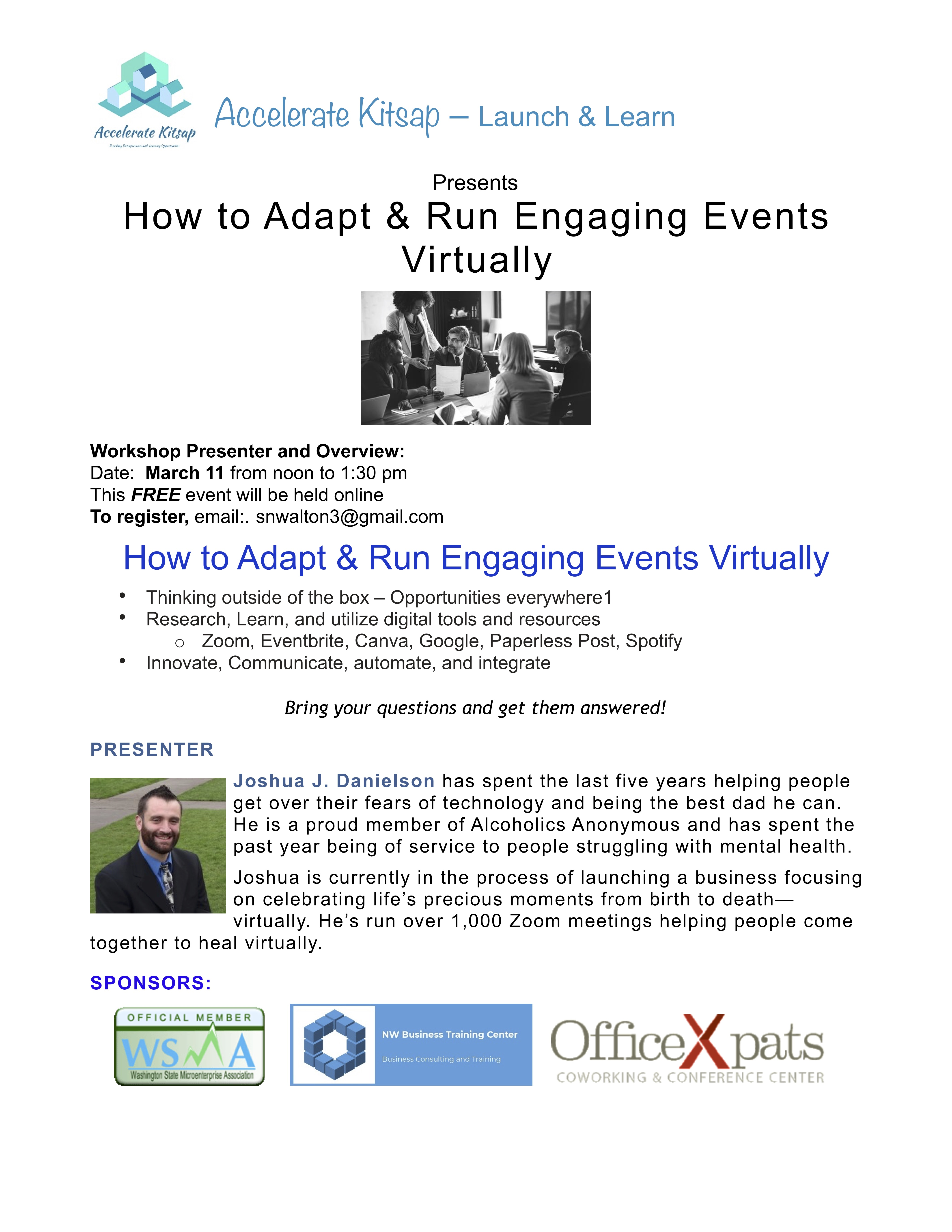 03:33:21 How to Adapt and Run Engaging Events Virtually